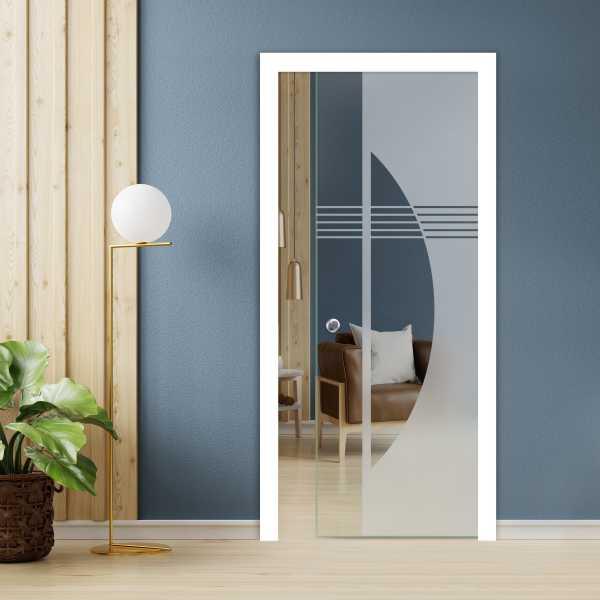 Pocket Glass Barn Door (Model PSGD-0119 Semi-Private)