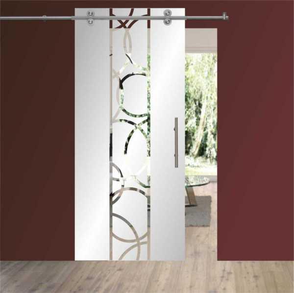 Single Sliding Barn Glass Door SGD-V2000-0063