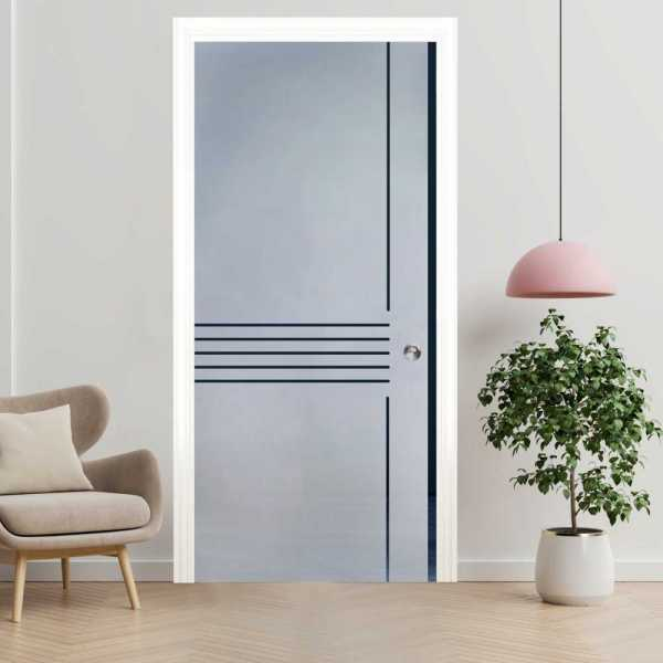 ++Sales Offers++ Pocket Sliding Glass Door with Frosted Design PSGD-0018