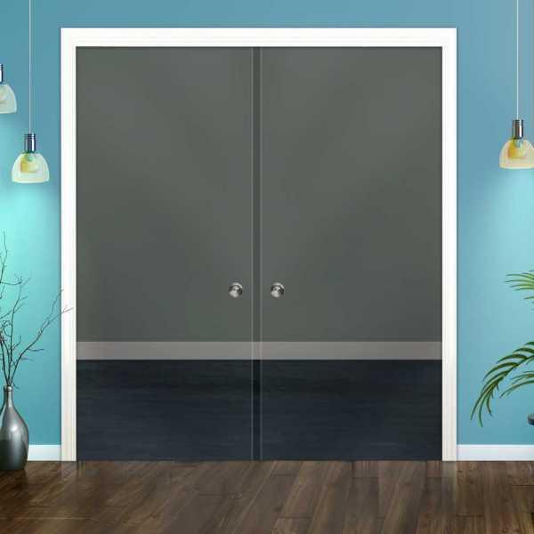 Clear Double Pocket Sliding Glass Door DPSGD-0018