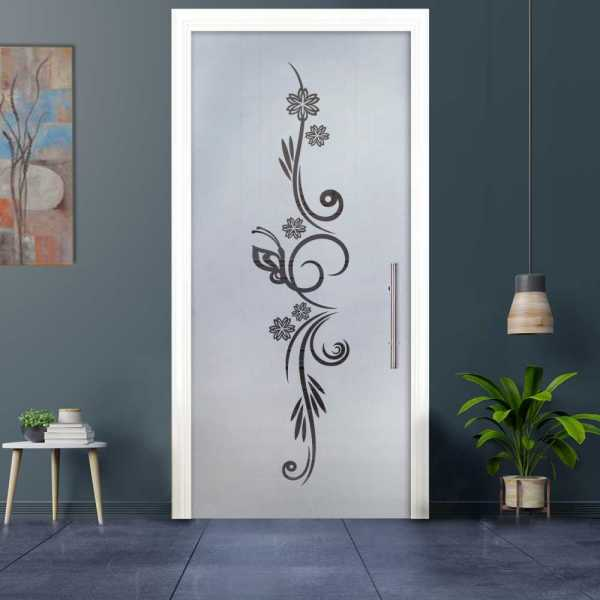 Sliding Pocket Glass Door with Frosted Design and Hardware PSGD-0028