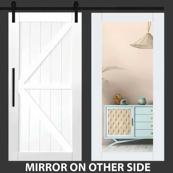 4 Panel Mirror Barn Door with Mirror Insert WMD-0280