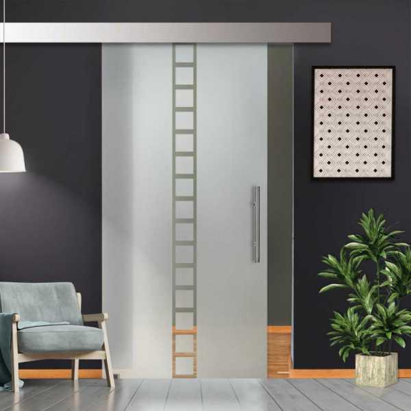 Glass Barn Door (Model SGD-ALU100-0016 Semi-Private)