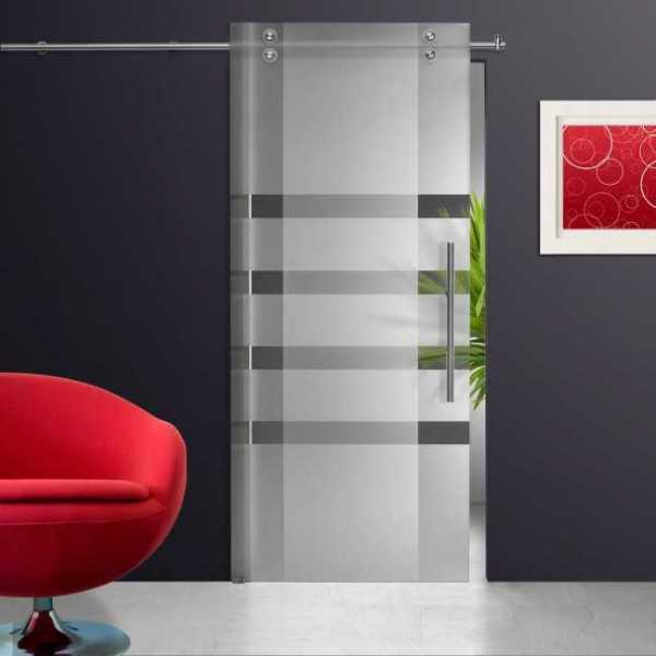 Sliding Glass Barn Door SGD-V2000-0101 semi-private