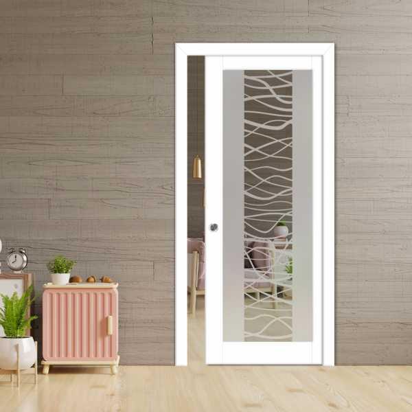 Glass Barn Door (Model PWGD-0002 Semi-Private)_Recessed Grip Handle