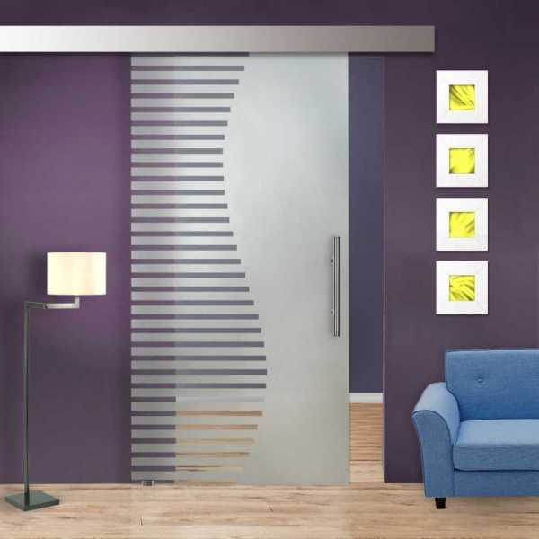 Glass Barn Door (Model SGD-ALU100-0151 Semi-Private)