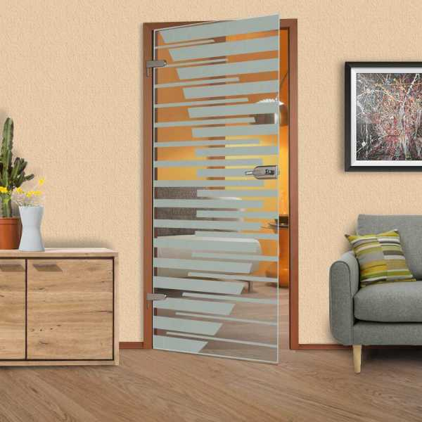 Hinged Glass Door HGD-H+H-0007 (semi-Private)