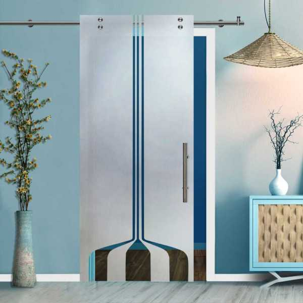 Glass Barn Door (Model SGD-V2000-0407 Semi-Private)
