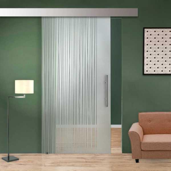 Glass Barn Door (Model SGD-ALU100-0001 Semi-Private)