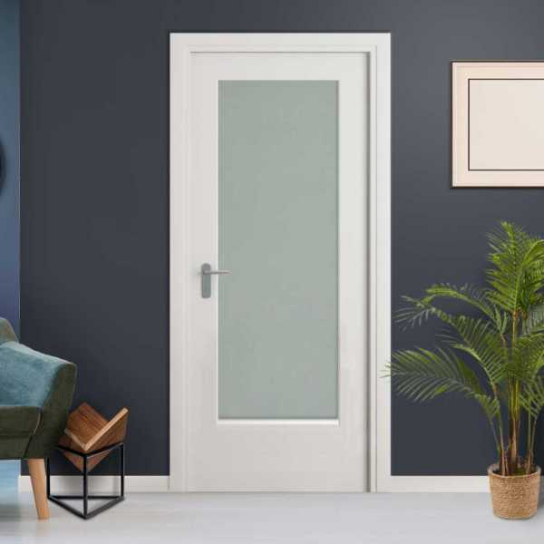 Frosted 3/4 Lite Interior Doors with Glass Insert HMDI-00140