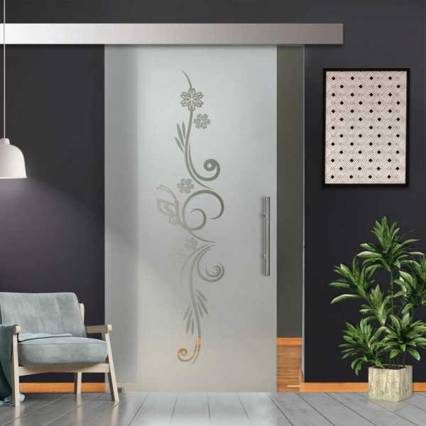Glass Barn Door (Model SGD-ALU100-0234 Semi-Private)