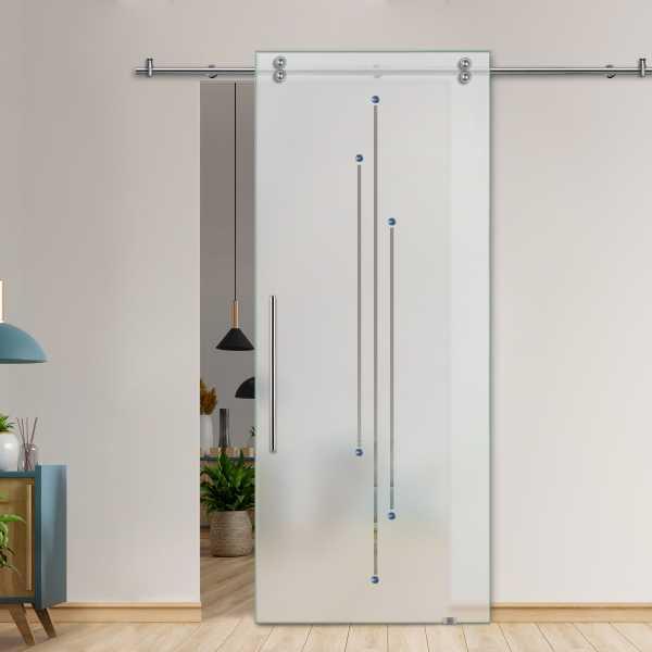 Glass Barn Door (Model SGD-V2000-0211 Semi-Private