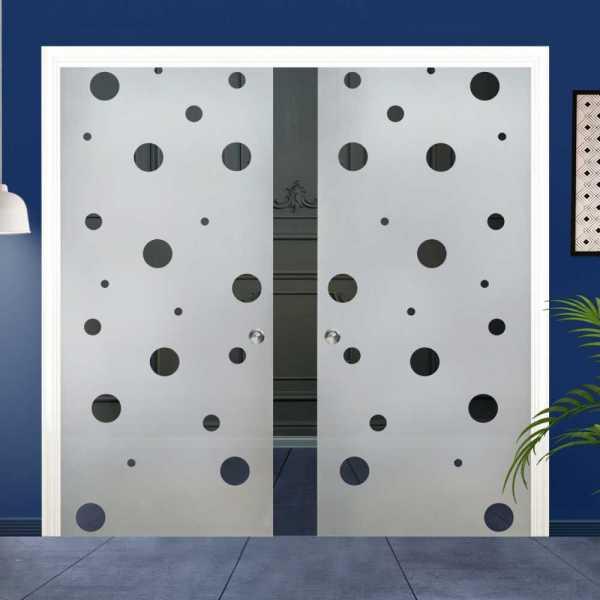Double Pocket Glass Barn Door (Model DPSGD-0019 Semi-Private)_Recessed Grip Handle