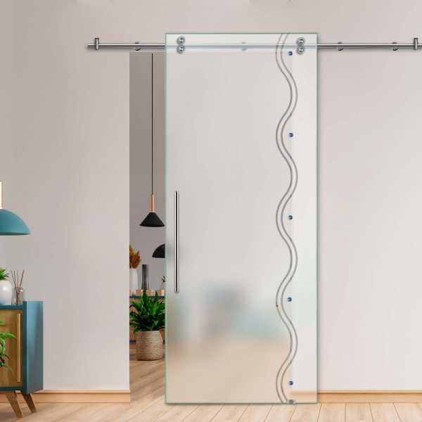 Glass Barn Door (Model SGD-V2000-0032 Semi-Private)