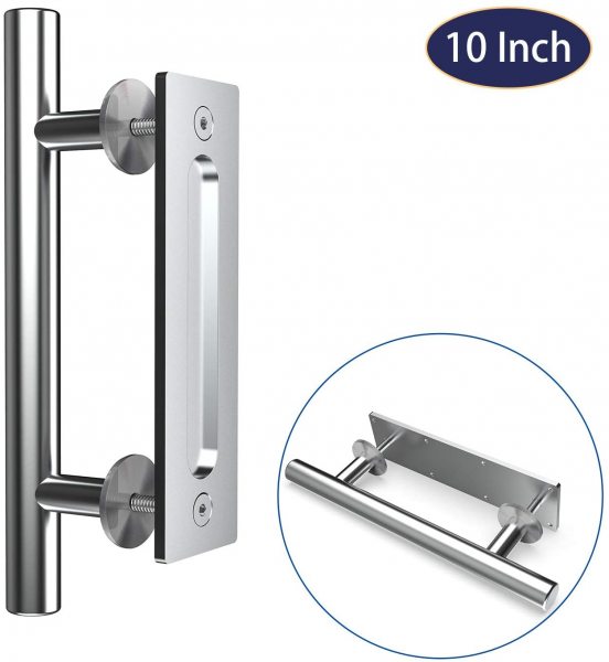"""10"""" Inch Stainless Steel Handle for Wood Sliding Doors"""