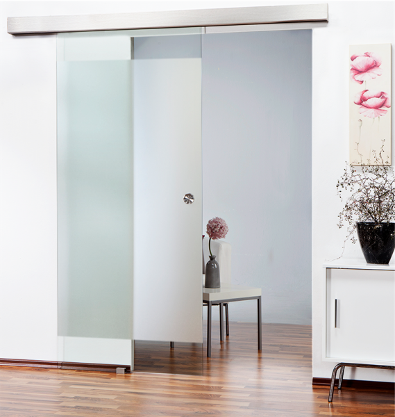 Sliding Glass Barn Door SGD-ALU100-0138 semi-private