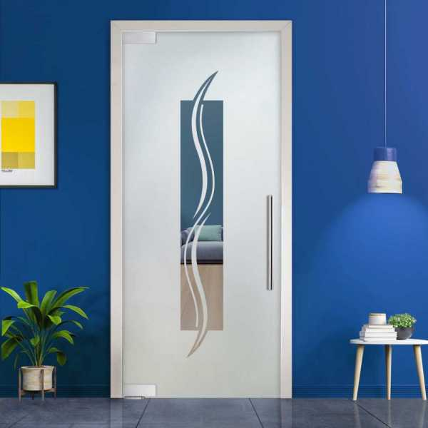 Pivot Glass Door (Model PD-0027 Semi-Private) with Handle Bar