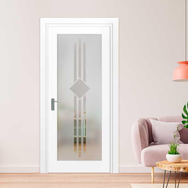 1 Lite Interior Door with Glass Insert (Model 1LID-0010 Semi-Private)