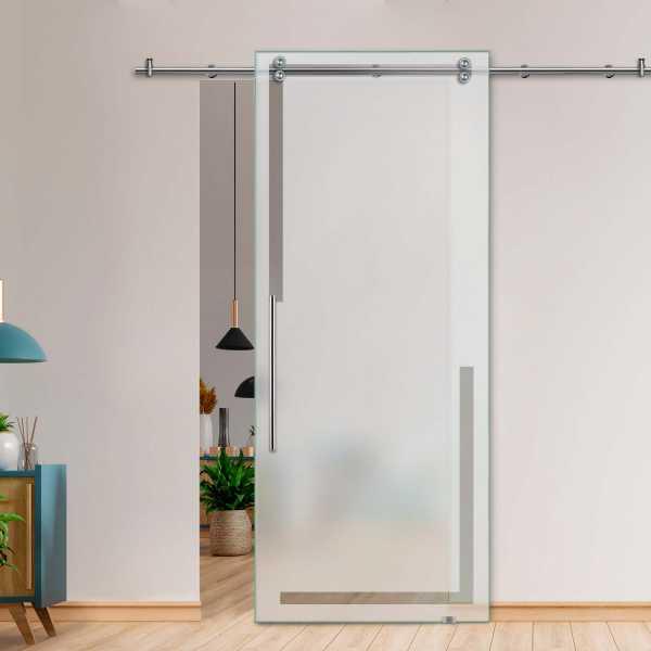 Single Sliding Barn Glass Door SGD-V2000-0462 (Semi-private)