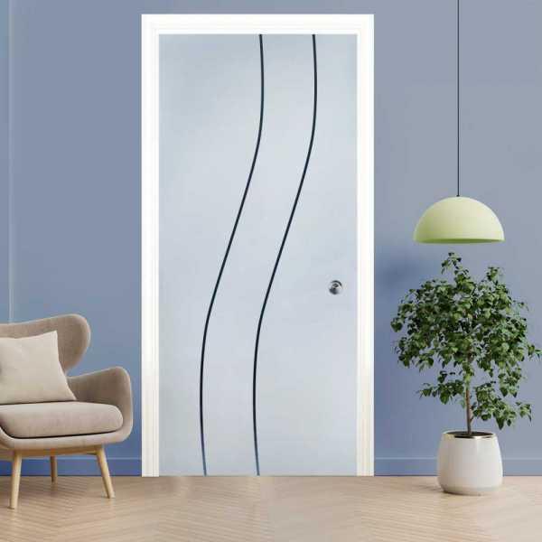 Pocket Glass Barn Door (Model PSGD-0049 Semi-Private)