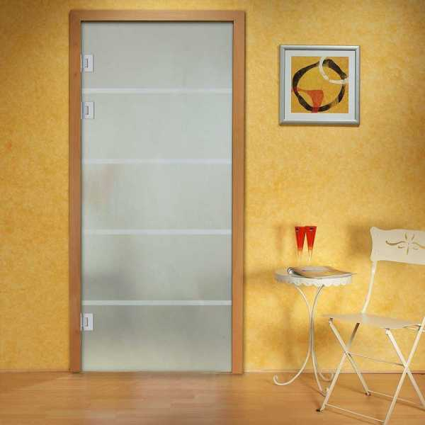 """Swing Glass Door, 36''x96"""", Left Opening with Full Private Design and Hardware included"""