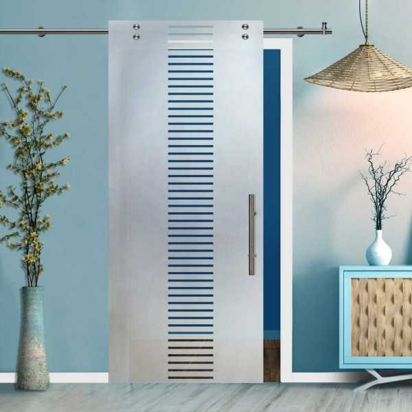 Glass Barn Door (Model SGD-V2000-0411 Semi-Private)
