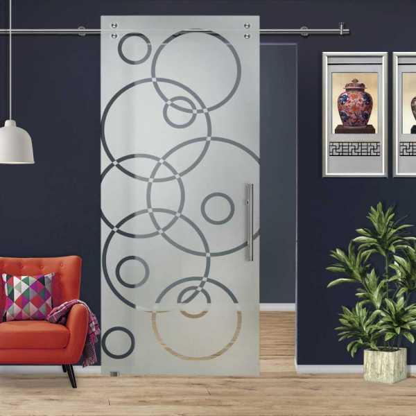 Glass Barn Door (Model SGD-V2000-0024 Semi-Private)