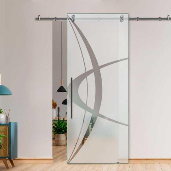Glass Barn Door (Model SGD-V2000-0300 Semi-Private)