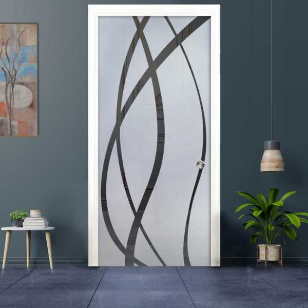 Pocket Sliding Glass Door with Frosted Design (Semi-Private)
