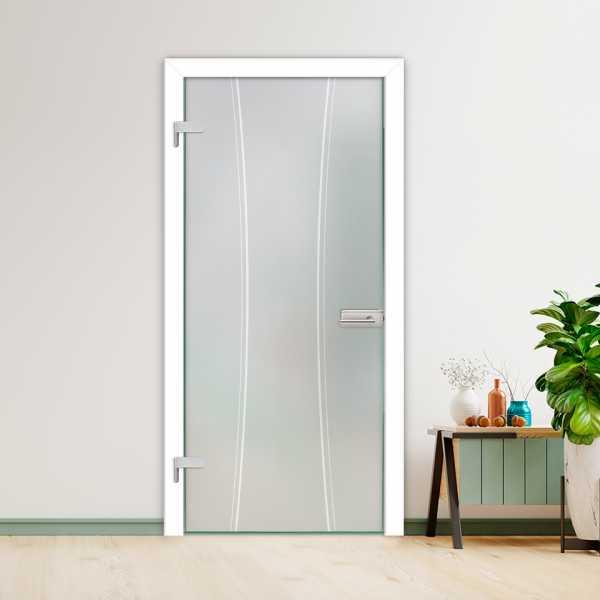 Hinged Glass Door (Model HGD-H+H-0091 Semi-Private)