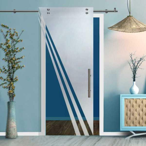Glass Barn Door (Model SGD-V2000-0231 Semi-Private)