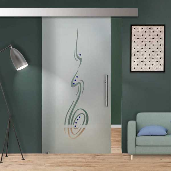 Sliding Glass Barn Door SGD-ALU100-0042