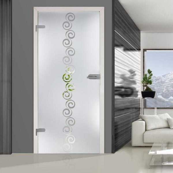 Hinged Glass Door (Model HGD-H+H-0004 Semi-Private)