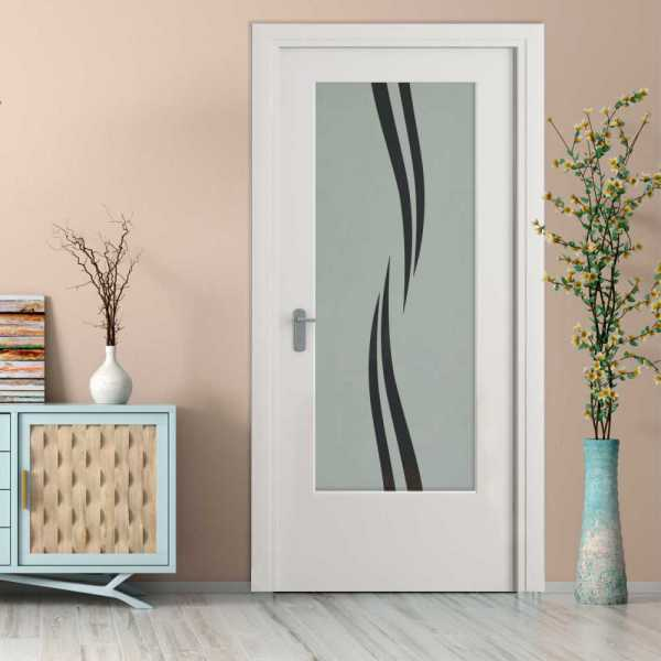 MDF Hinged Doors with Glass Insert HMDI-0018