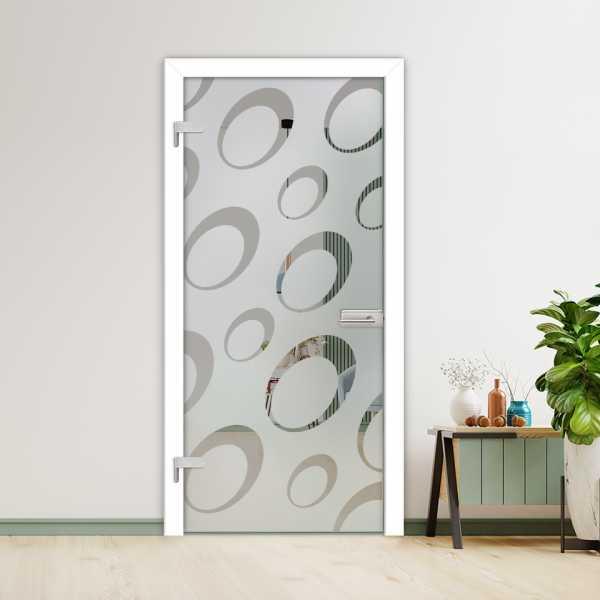 Hinged Glass Door (Model HGD-H+H-0045 Semi-Private)