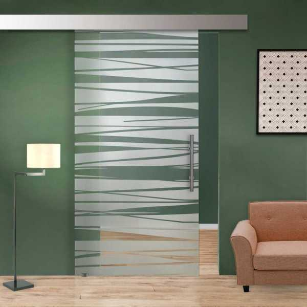 Glass Barn Door (Model SGD-ALU100-0005 Semi-Private)
