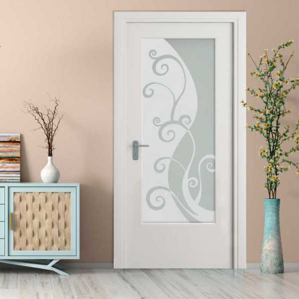 MDF Hinged Doors with Glass Insert HMDI-0002