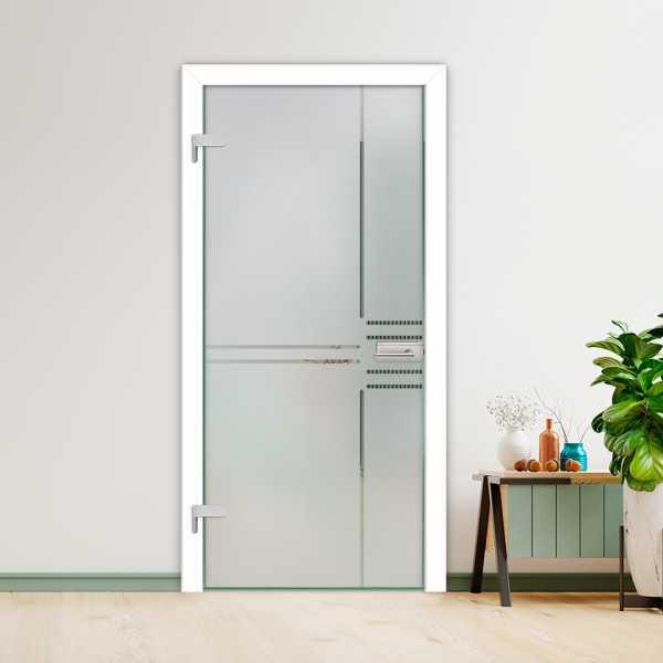 Hinged Glass Door (Model HGD-H+H-0016 Semi-Private)