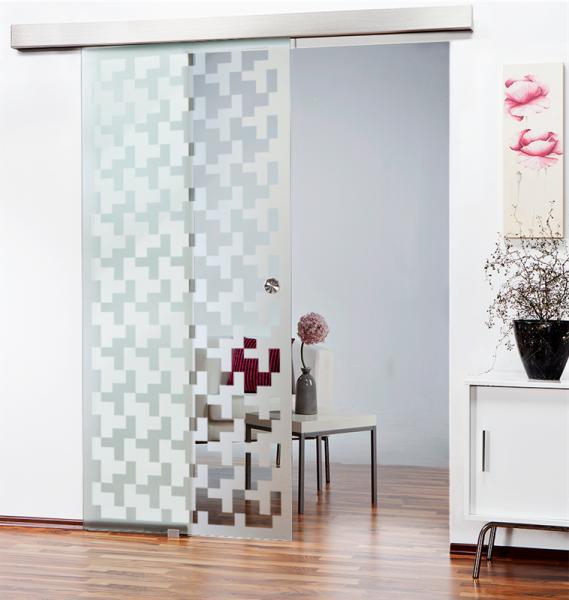 Glass Barn Door (Model SGD-ALU100-0121 Semi-Private)