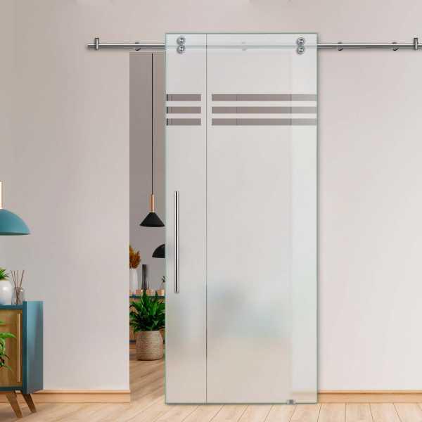Glass Barn Door (Model SGD-V2000-0019 Semi-Private)