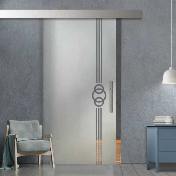 Sliding Glass Barn Door SGD-ALU100-0262