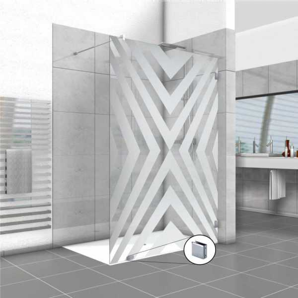 Frameless Fixed Shower Glass Panel FSS-0024