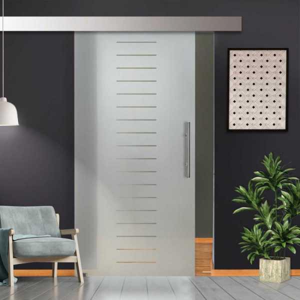 Glass Barn Door (Model SGD-ALU100-0205 Semi-Private)