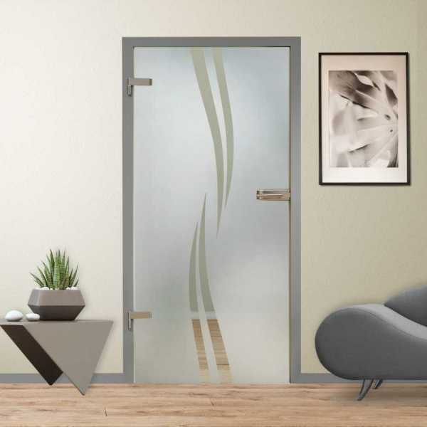 Hinged Glass Door (Model HGD-H+H-0299 Semi-Private)