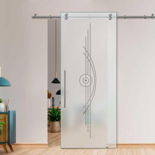Glass Barn Door (Model SGD-V2000-0085 Semi-Private)