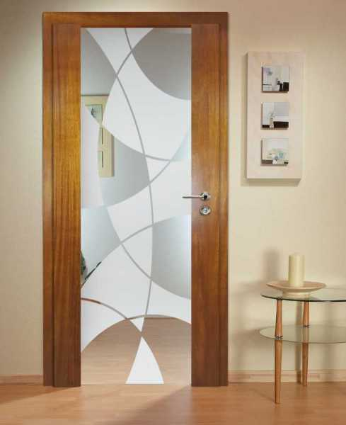 Solid Wood Hinged Door with Glass Insert HWDI-0017