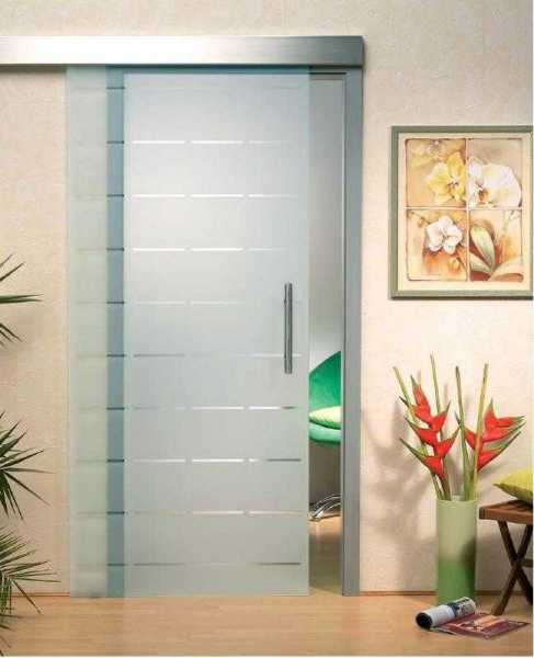 Sliding Glass Barn Door SGD-ALU100-0050 semi-private