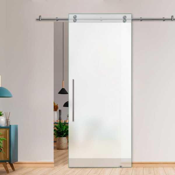 Single Sliding Barn Glass Door SGD-V2000-0450 (Semi-private0
