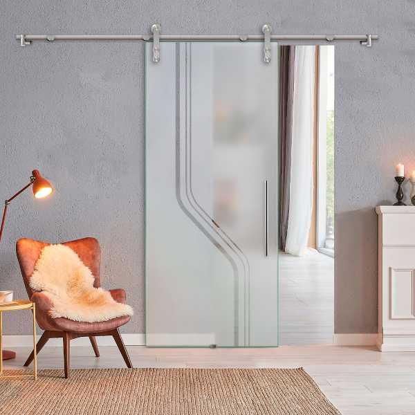 Glass Barn Door (Model SGD-V1000-0314 Semi-Private)