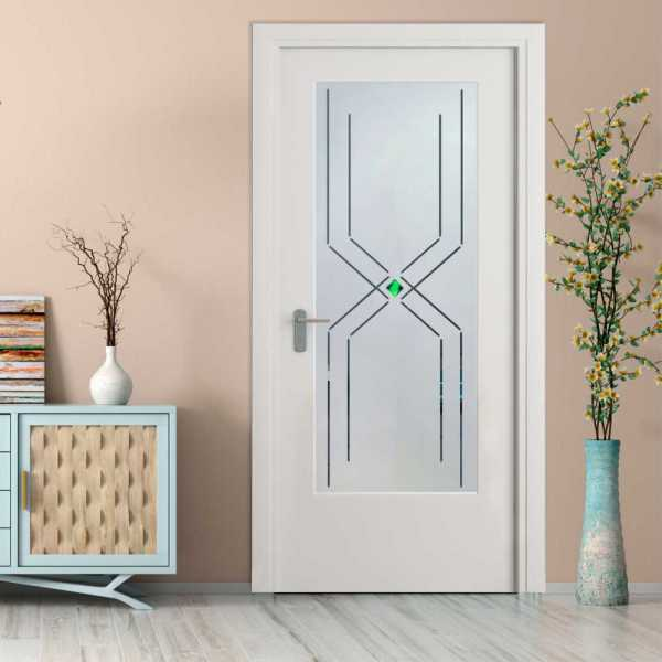 MDF Hinged Doors with Glass Insert HMDI-0024